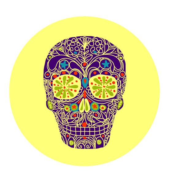 Mexican skull head