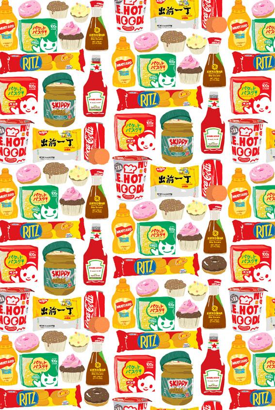 Junk food wallpaper