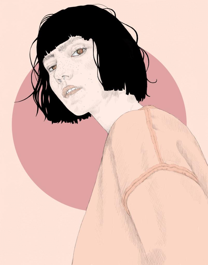 Pink mood : woman portrait